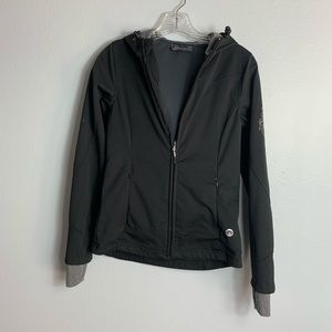 MODETTA FULL ZIP HOODIE W/ DESIGN ON ARM SIZE XS